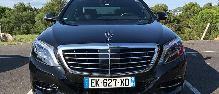Mercedes classe S avec chauffeur à Cannes, Nice et toute l'Europe